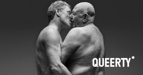 Gay couple feature on new billboard campaign promoting joy of sex in later life
