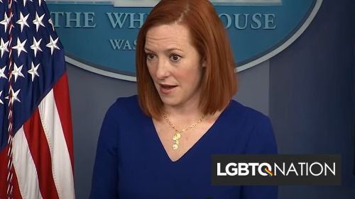 Jen Psaki masterfully shuts down reporter's dumb question about trans people
