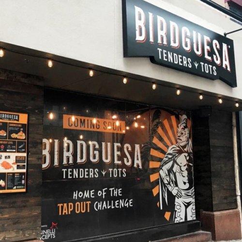 Chicken tenders & tots restaurant Birdguesa hatches in downtown Dallas