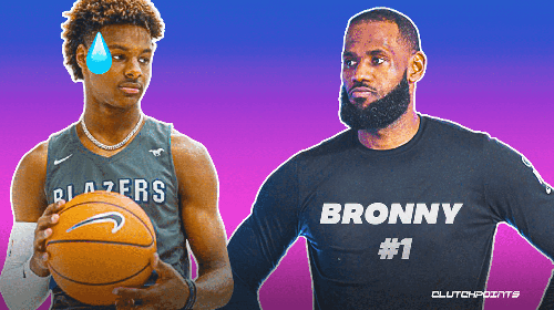 Lakers star LeBron James reacts to scouting report on son Bronny