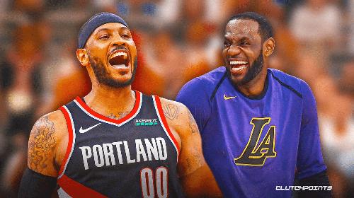 Lakers' LeBron James hypes up Carmelo 2.0 Kiyan Anthony