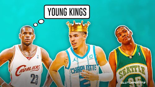 Hornets guard LaMelo Ball reaches LeBron James, Kevin Durant territory with young guy feat