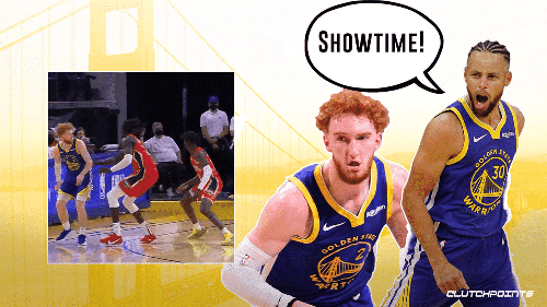 VIDEO: Stephen Curry fired up by showtime behind-the-back passes from Nico Mannion