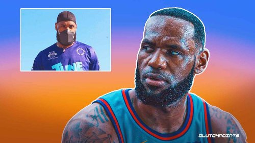 Lakers star LeBron James shows off Space Jam 2 gear on flight