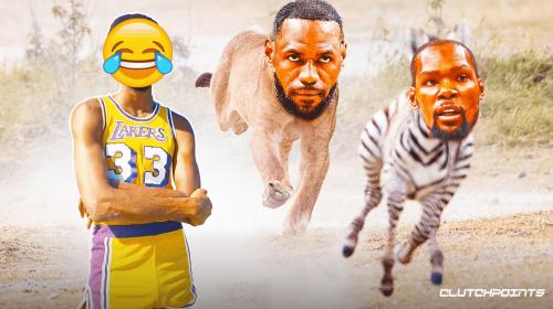 Lakers legend Kareem Abdul-Jabbar hilariously clowns Kevin Durant with bizarre LeBron James meme