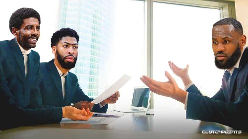 Lakers' LeBron James surprising comparison between Anthony Davis, Kyrie Irving