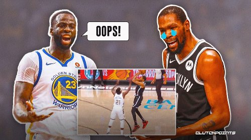 Warriors star Draymond Green's 2-word reaction to Kevin Durant's failed game-winner for Nets in OT