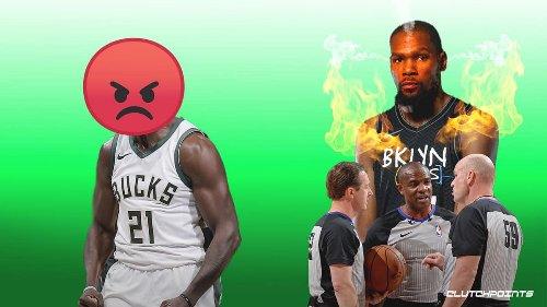 Bucks' Jrue Holiday blasts Kevin Durant's unfair advantage that led to 49-point eruption