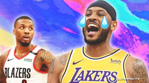 Damian Lillard's savage 4-word message to Carmelo Anthony after ditching Blazers for Lakers