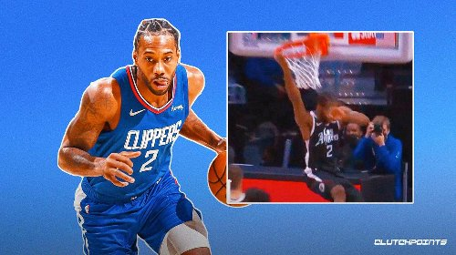VIDEO: Clippers star Kawhi Leonard elevates and detonates for massive alley-oop dunk