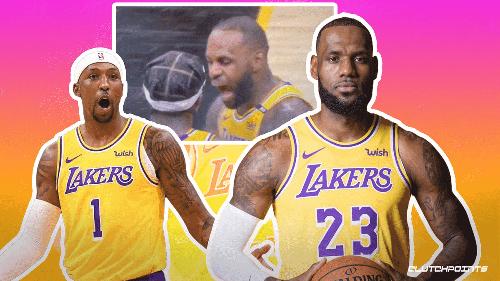 VIDEO: Lakers' LeBron James caught screaming at Kentavious Caldwell-Pope amid poor Game 2