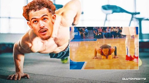VIDEO: Trae Young shrugs off Dwight Howard takedown with gym bro move