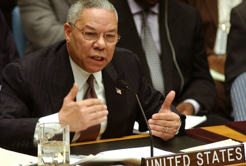 Colin Powell, trailblazing soldier and statesman who made case for Iraq invasion, dies of Covid at 84