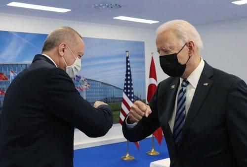 Biden and Erdogan meet as U.S. sanctions hang over Turkey following Russian missile deal