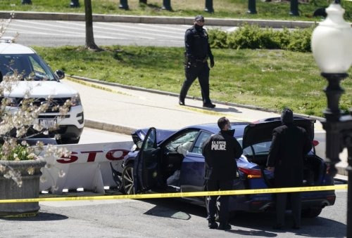 One Capitol Police officer, suspect dead after car rammed into two officers