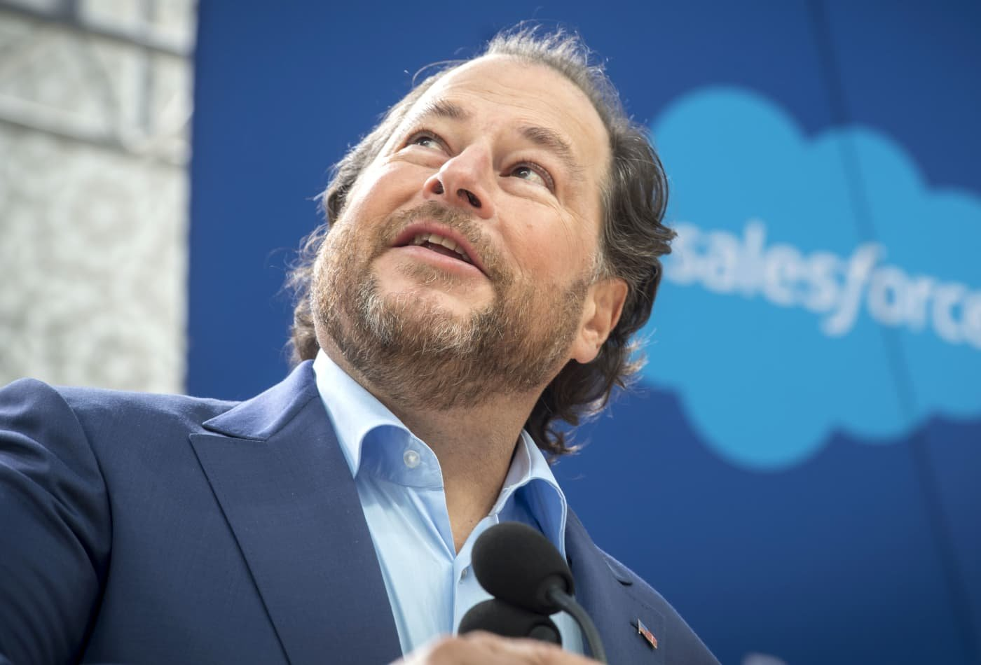 Salesforce CEO Marc Benioff expects half or more of employees to work from home after the pandemic: 'The past is gone'