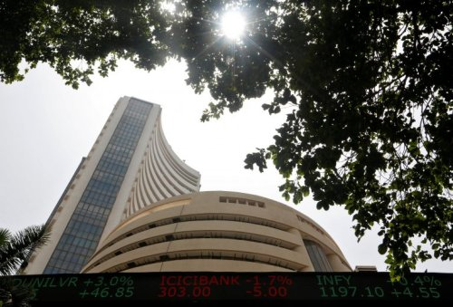 Closing Bell: Sensex ends 435 points lower, Nifty settles at 14,500; heavyweights drag, PSU Banks gain