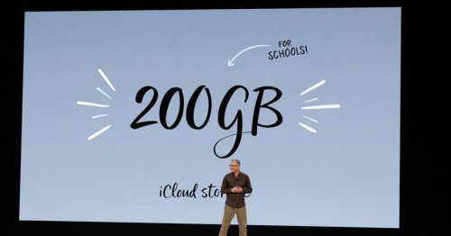 Apple offers 200GB iCloud deal for schools