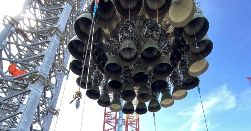 Elon Musk shares epic views of Super Heavy rocket moving to launch pad