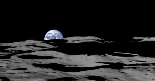 Watch an 'Earthrise' from the perspective of the moon