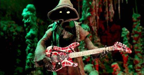 Watch a Star Wars Jawa honor Eddie Van Halen by shredding on electric guitar