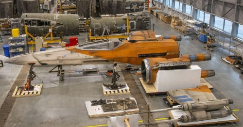 The Smithsonian has a full-size Star Wars X-wing starfighter now