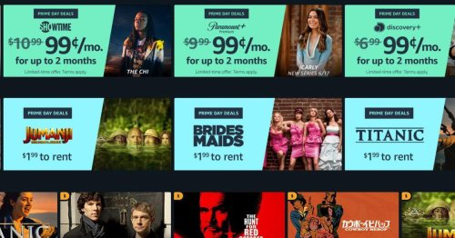 Early Prime Day video deals: 99-cent streaming subscriptions and more