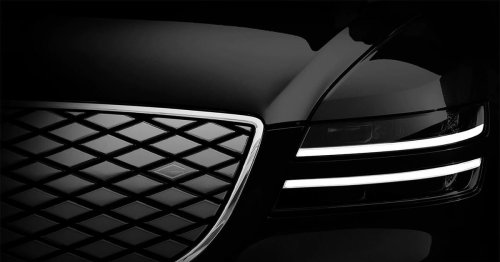 The electric Genesis G80e sedan will debut on April 18