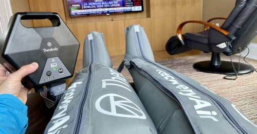 Therabody's newest massage device, RecoveryAir, puts the squeeze on