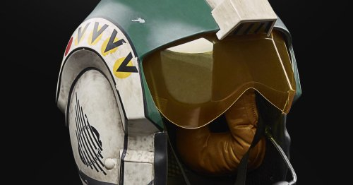 Wedge Antilles' life-size X-wing helmet joins Hasbro's Star Wars Black Series