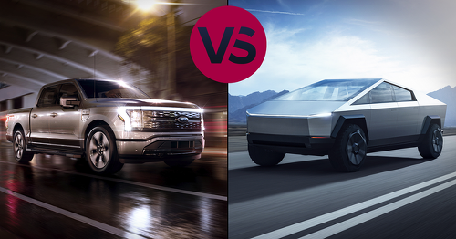 See the essential differences between the electric F-150 Lightning and Tesla Cybertruck - Video