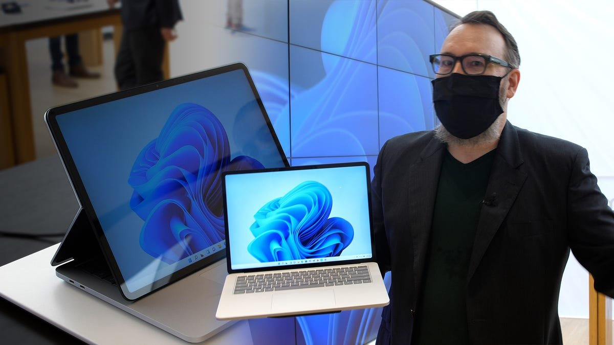 Hands-on with Microsoft's new Surface Pro 8 and Surface Laptop Studio - Video
