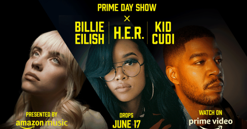 Amazon Prime Day Show: Watch trailer for music special featuring Billie Eilish, H.E.R. and Kid Cudi