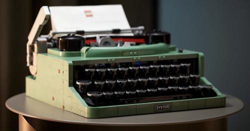Lego goes retro with 2,079-piece classic typewriter set