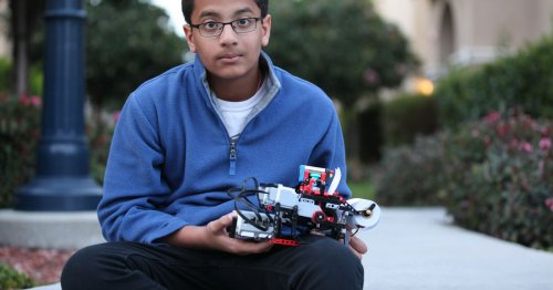 12-year-old builds low-cost Lego braille printer