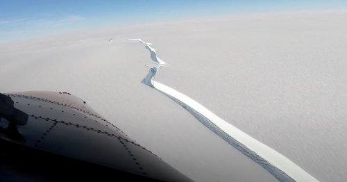 See the epic Antarctic crack that spawned a Los Angeles-size iceberg