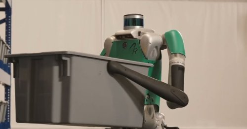 This humanoid robot is heading to work in warehouses