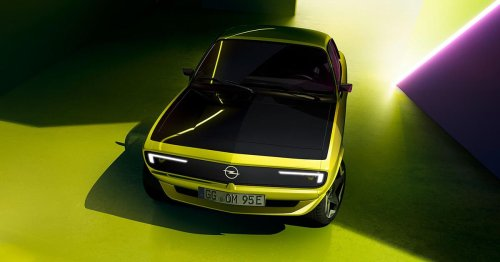 Reborn Opel Manta has more than mini muscle car looks, it gets a digital grille