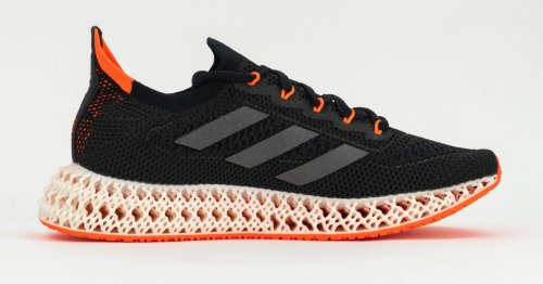 Adidas running shoes with 3D printed midsoles push your feet forward