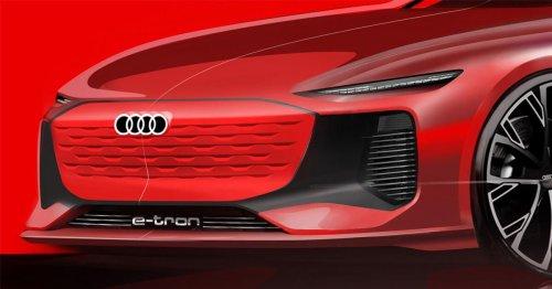 Audi Shanghai E-Tron concept sketch shows off razor-thin headlights