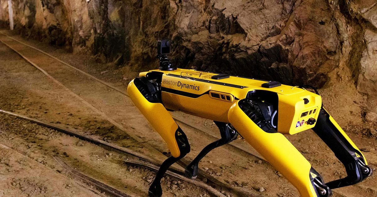 Watch a Spot robot from Boston Dynamics explore an old mine