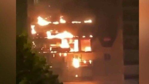 Incendie à Sainte-Foy-lès-Lyon : 11 blessés, un immeuble ravagé