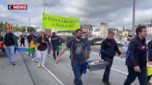 Normandie : les pêcheurs en colère contre les éoliennes