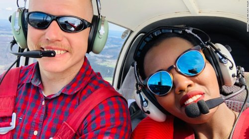 The whirlwind romance that started with a private plane ride