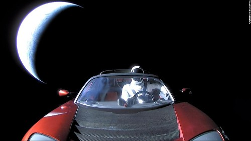 SpaceX's Tesla roadster made its first close approach with Mars