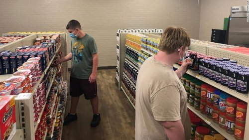 A high school in Texas opened a grocery store for struggling families where good deeds are accepted as payment