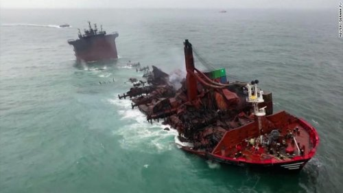 Dead turtles and waves of plastic show Sri Lankan ship disaster's deep ramifications