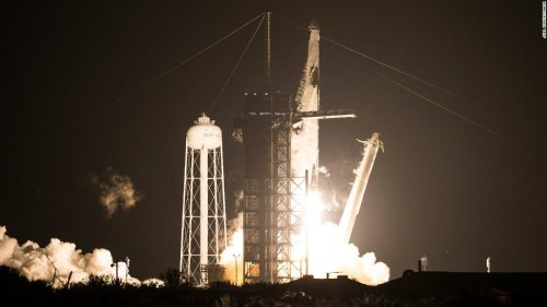 SpaceX launch: Four astronauts take off aboard Crew Dragon bound for ISS