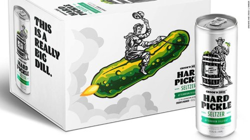 Pickle-flavored hard seltzer is coming this summer after April Fool's tease