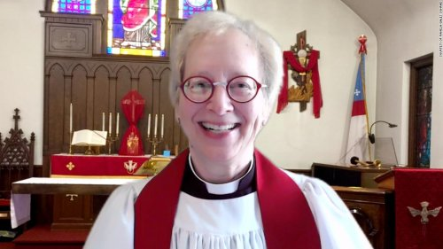 She's a priest. You'll never guess her other job